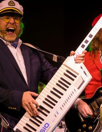 yacht rock captain carl keytar ascot blue blazer keyboards