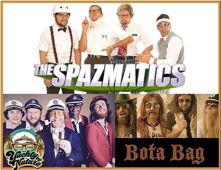silver lakes seafood festival spazmatics yachty by nature yacht rock soft rock smooth captains bota bag lobster crab