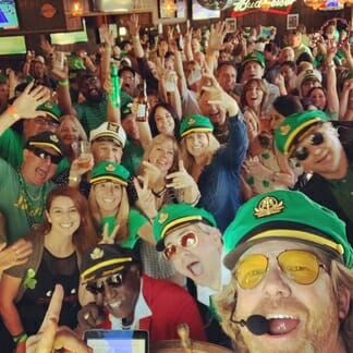 yacht rock saint paddys day green shamrock st pattys broner captains hats oc orange county los angeles band bands yachty by nature