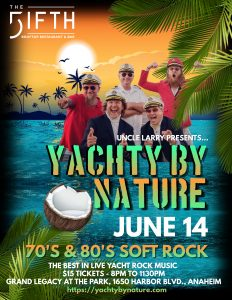 yacht band promo the fifth oc in anaheim june 14 2019 yachty by nature rooftop yacht rock captains of smooth party fireworks disney disneyland