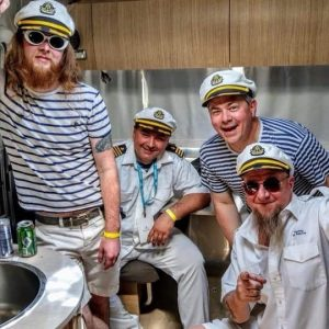 yacht rock outfits stripes yachty by nature clothing fashion music los angeles orange county tribute cover band broner hats tennis week
