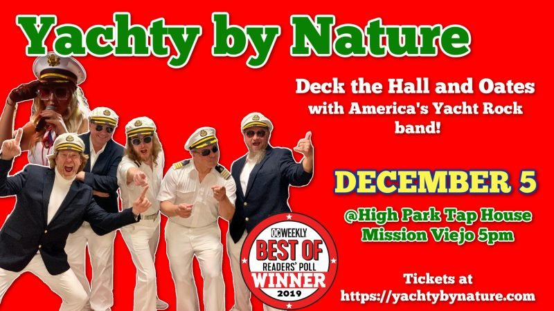 high park tap house yacht rock band yachty by nature bands smooth captains hall and oates beer yacht concert im on a boat covid 19 socially distanced christmas yule holidays