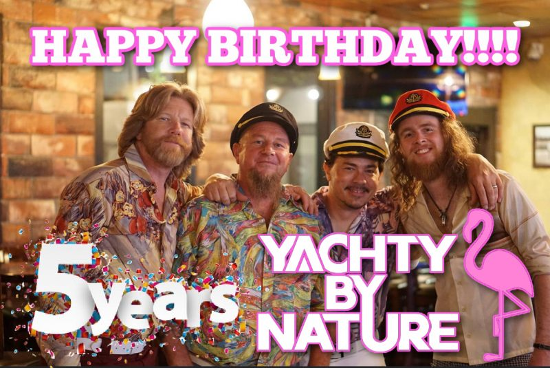 yacht rock band batten down the hatches summer 2021 yachty by nature rock the yacht canyon club 4th of july lake forest california captains hats smooth